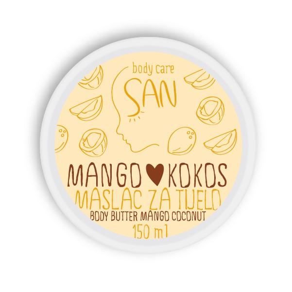 SAN BODY CARE Maslac za tijelo MANGO KOKOS